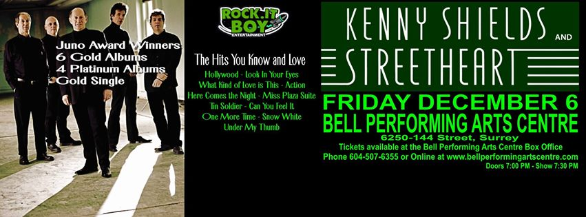 Win Tickets to KENNY SHIELDS and STREETHEART!