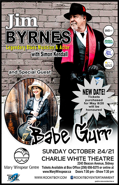 JIM BYRNES WITH SIMON KENDALL AND SPECIAL GUESTS  BABE BURR